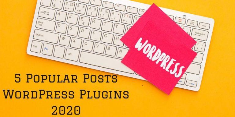 5 Popular Posts WordPress Plugins