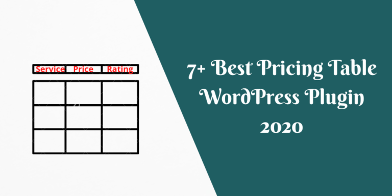7+ Best Pricing Table WordPress Plugin 2020