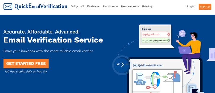 QuickEmailVerification - email verification services