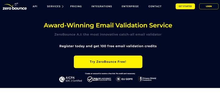 ZeroBounce - email verification services