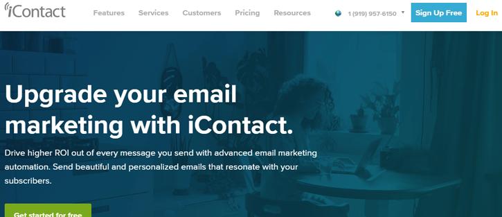 iContact - best MailChimp alternatives