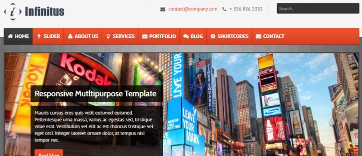 Infinitus - Responsive HTML5 Business Template