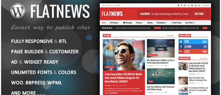 FlatNews – WordPress News Themes