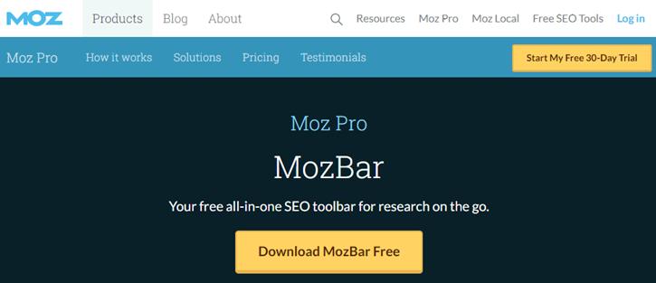 MozBar - google keyword planner alternatives