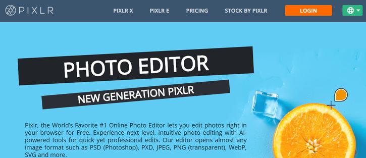 Pixlr - photoshop alternatives