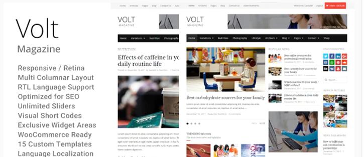 Volt - WordPress News Themes