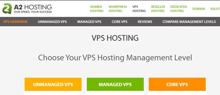 A2 Hosting - vps hosting services