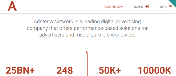 Adsterra - top Ad networks