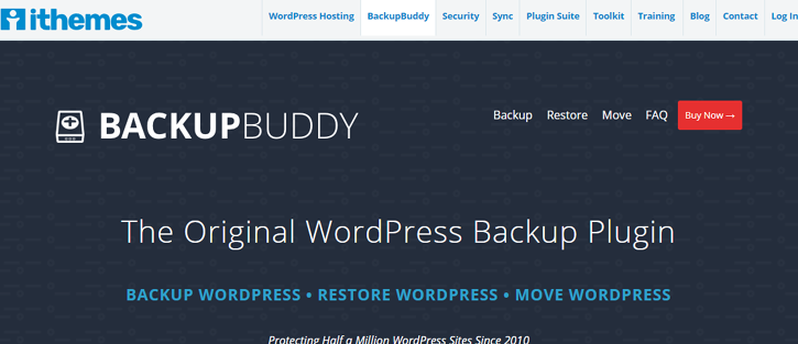 BackupBuddy - WordPress migration plugins