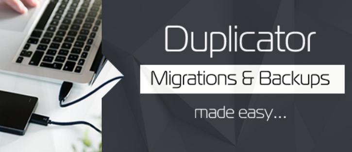 Duplicator - WordPress migration plugins
