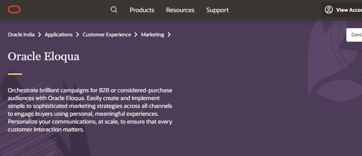 Eloqua - marketing automation tools