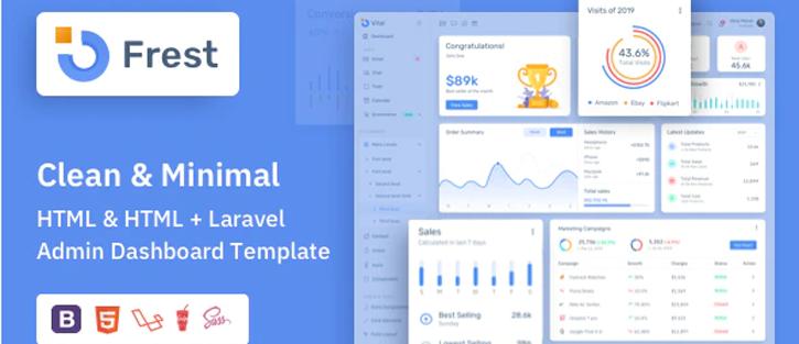 Frest - HTML & Laravel Bootstrap Admin