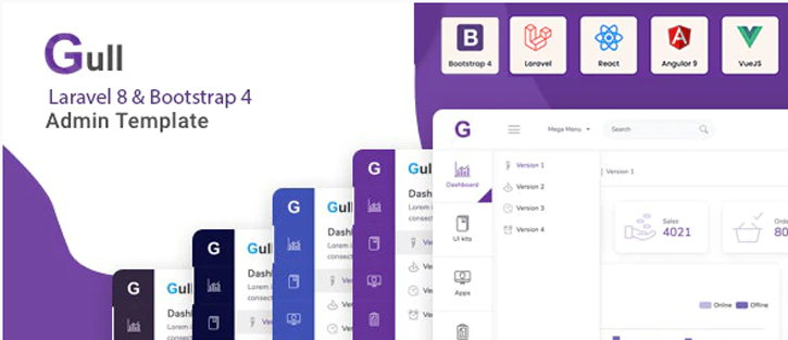 Gull - Laravel Bootstrap Admin