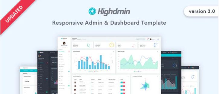 Highdmin - free dashboard templates