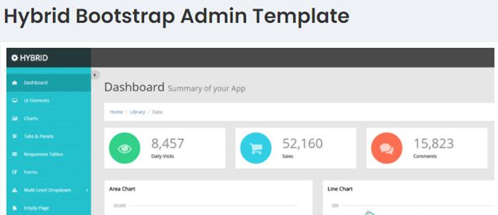 Hybrid - free dashboard templates