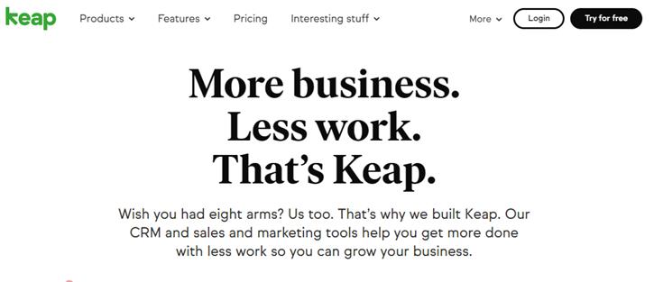 Keap - marketing automation tools