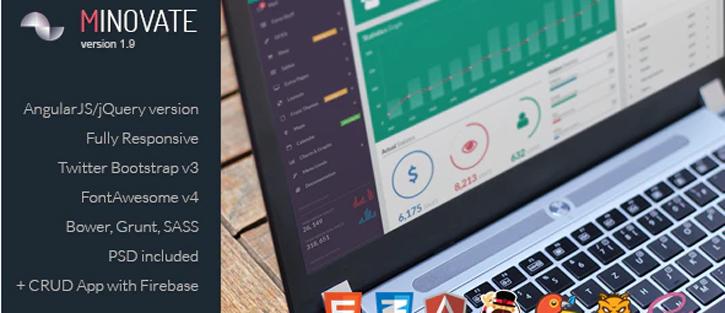 Minovate- Angular Admin Dashboard
