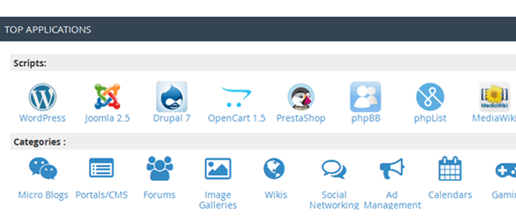 Software and Application Management with cPanel