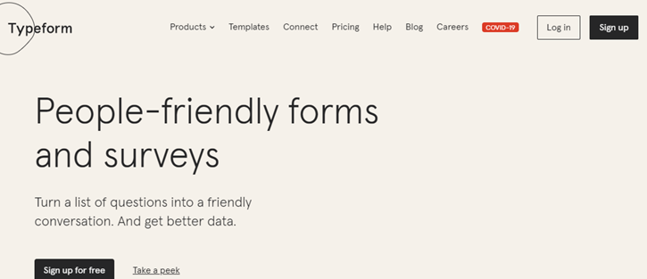 Typeform - marketing tools for small business