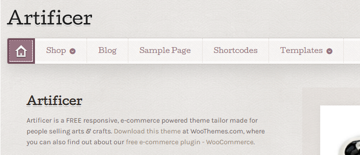 Artificer - WordPress WooCommerce Theme