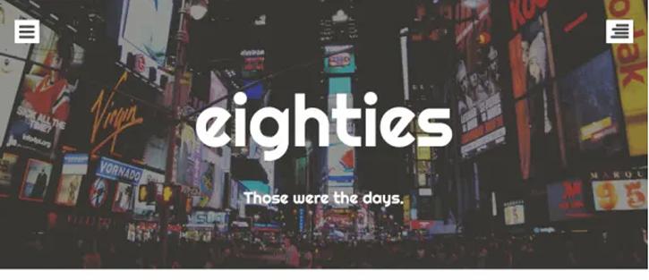 Eighties - best free WordPress themes