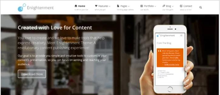 Enlightenment - best free WordPress themes