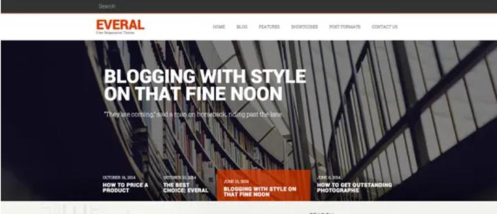 Everal - best free WordPress themes