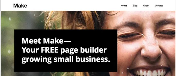 Make - best free WordPress themes