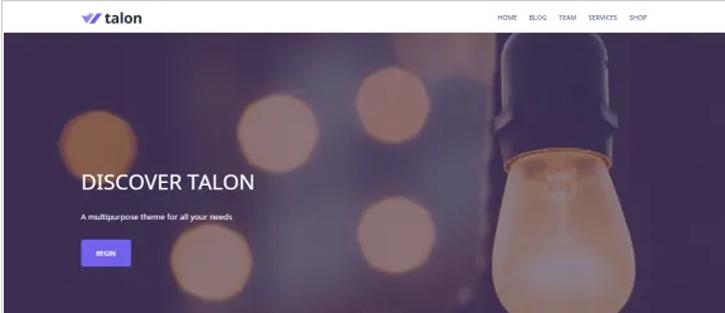 Talon - best free WordPress themes