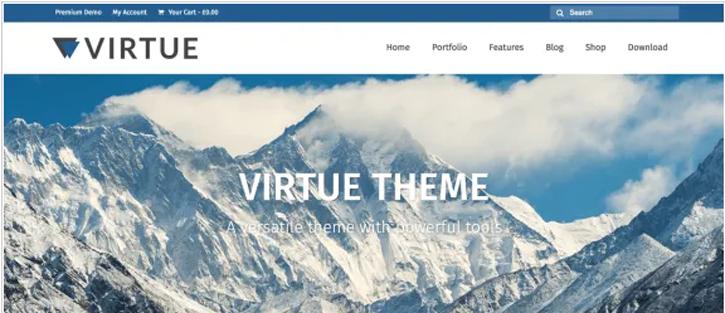 Virtue - best free WordPress themes