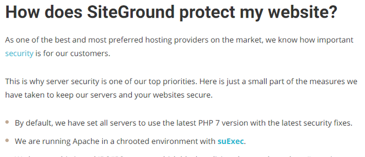 SiteGround Protection