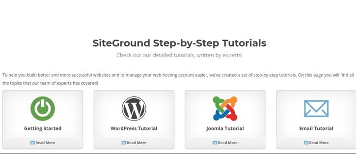 SiteGround Step-by-Step Tutorials